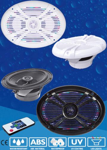 mit oder ohne LED-Beleuchtung Ovale wasserdichte Lautsprecher Boot 2 Stk