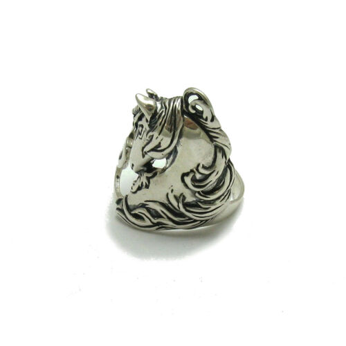 Argent sterling Bague Cheval Licorne Solid 925 Neuf Taille 3.5-13 R000813