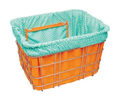 Electra Basket Liner Orange//Light Blue Dots Inlay panier de vélo sac reversible Butin