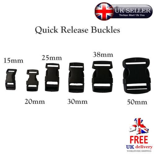 Quick release buckles plusieurs taille bande sangle connecteur de sangle sac à dos en plastique