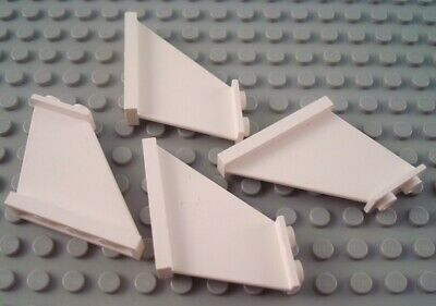 LEGO Lot of 4 Red 4x1x3 Airplane Space Aircraft Tails