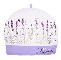 I Love Lavender Tea Cosy Cozy Ashdene Keep Teapot Warm Bee Purple White