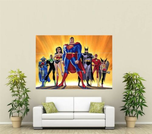 Super Hero/'s Superman Justice League  Giant XL Section Wall Art Poster VG148