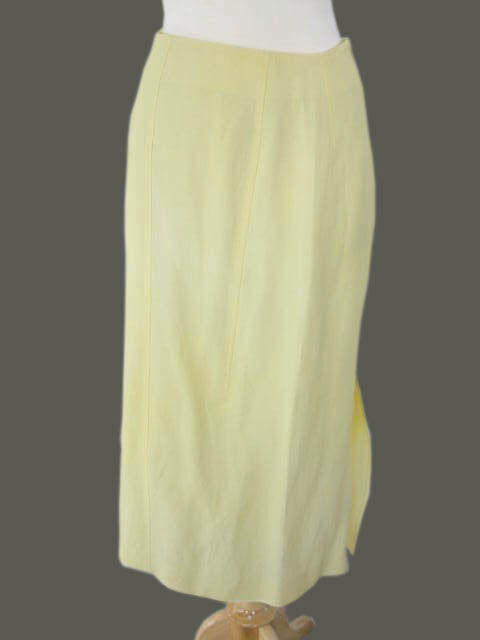 600 NWT Kiton Woman Light Yellow Skirt e42 US6 9 (IDKIWOSKRT10)