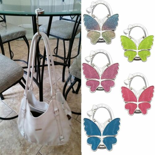 Sac à main strass métal papillon Support Cintre Crochet Pliable Sac à Main Table
