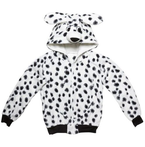 XL Adult Unisex 101 Dalmatian Dog Animal Hoodie Book Day Fancy Dress Costume S