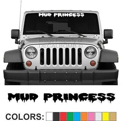 Mud Princess Dripping Dirt Windshield Decal Sticker Turbo