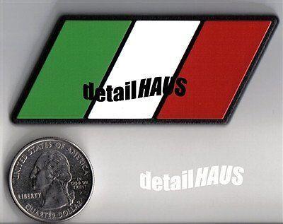 1 Pairs Italy Flag Emblem Car Badge Fit For Lamborghini Ferrari Maserati Fiat