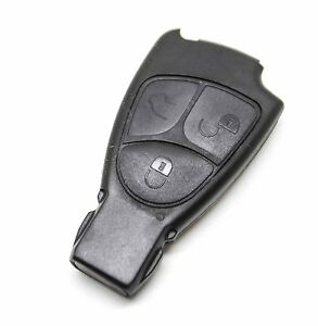Fits mercedes benz c e ml s clk class 3 button remote key for Mercedes benz key fob battery replacement