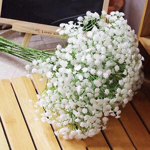 1 Head Romantic Babys Breath Gypsophila Silk Flower Party Wedding
