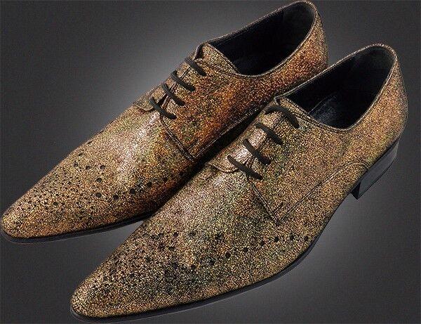100% Chelsy Handarbeit Italienischer Design 45 Ausgefallener Gold Samt Schuh 45 Design 396b85