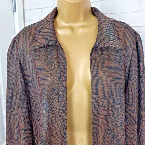 Scarf Joseph Thread Gold Ribkoff Brown Uk Long Occasion Jacket 12 Size rrAEwS