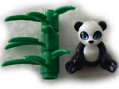 LEGO Animal pet PANDA with Bamboo leaves
