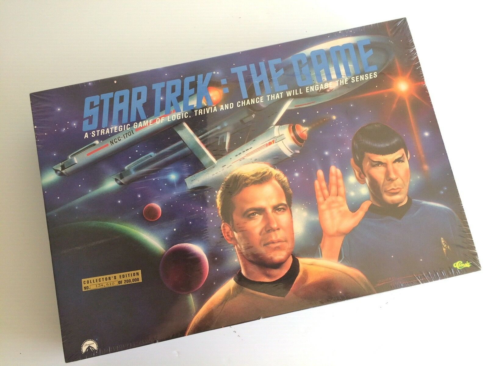 VINTAGE GAME 1992 STAR TREK THE GAME COLLECTORS EDITION FACTORY SEALED