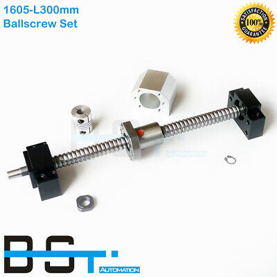 BK12//BF12+Coupler CNC parts SFU1605-350mm Ball Screw End machined with nut