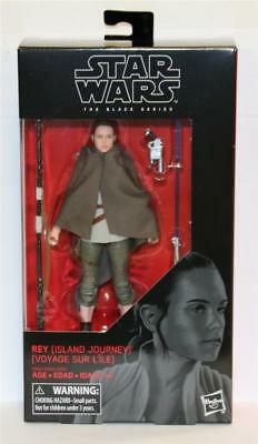 "STAR WARS 6/"" BLACK SERIES The Last Jedi # 58 REY ISLAND JOURNEY CASE FRESH NM"