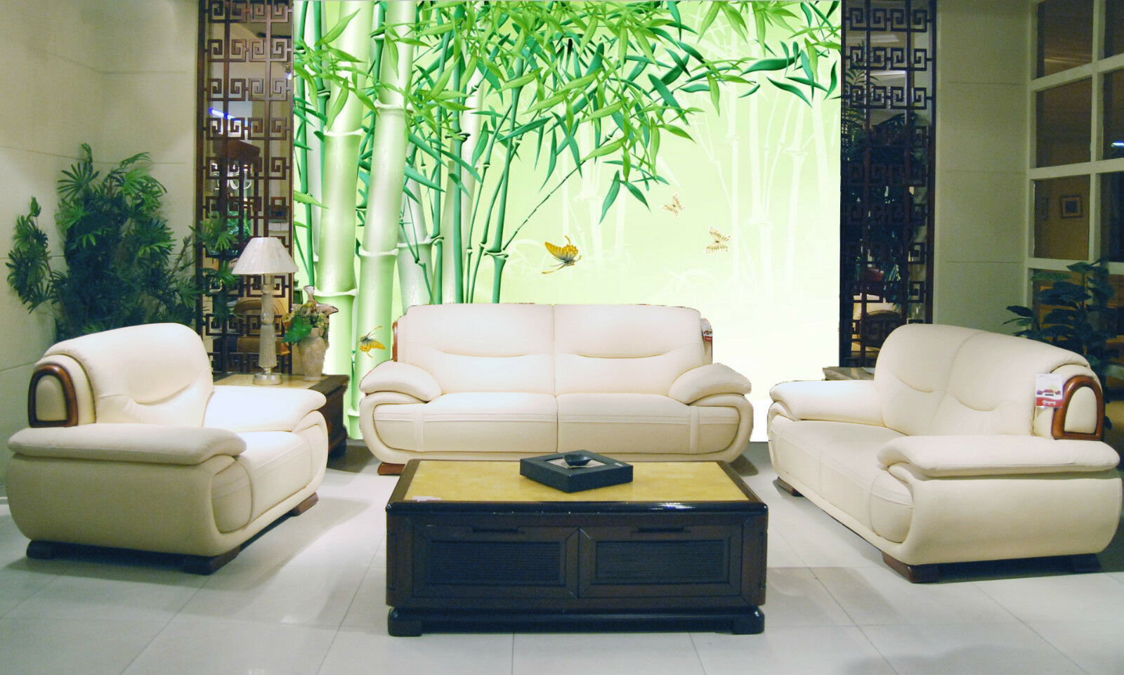 3D Green Bamboo Butterfly 655 Wall Paper Wall Print Decal Wall AJ WALLPAPER CA