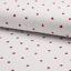 0,5m tela de toalla niños sustancia algodón ajour fresas METERWARE blanco