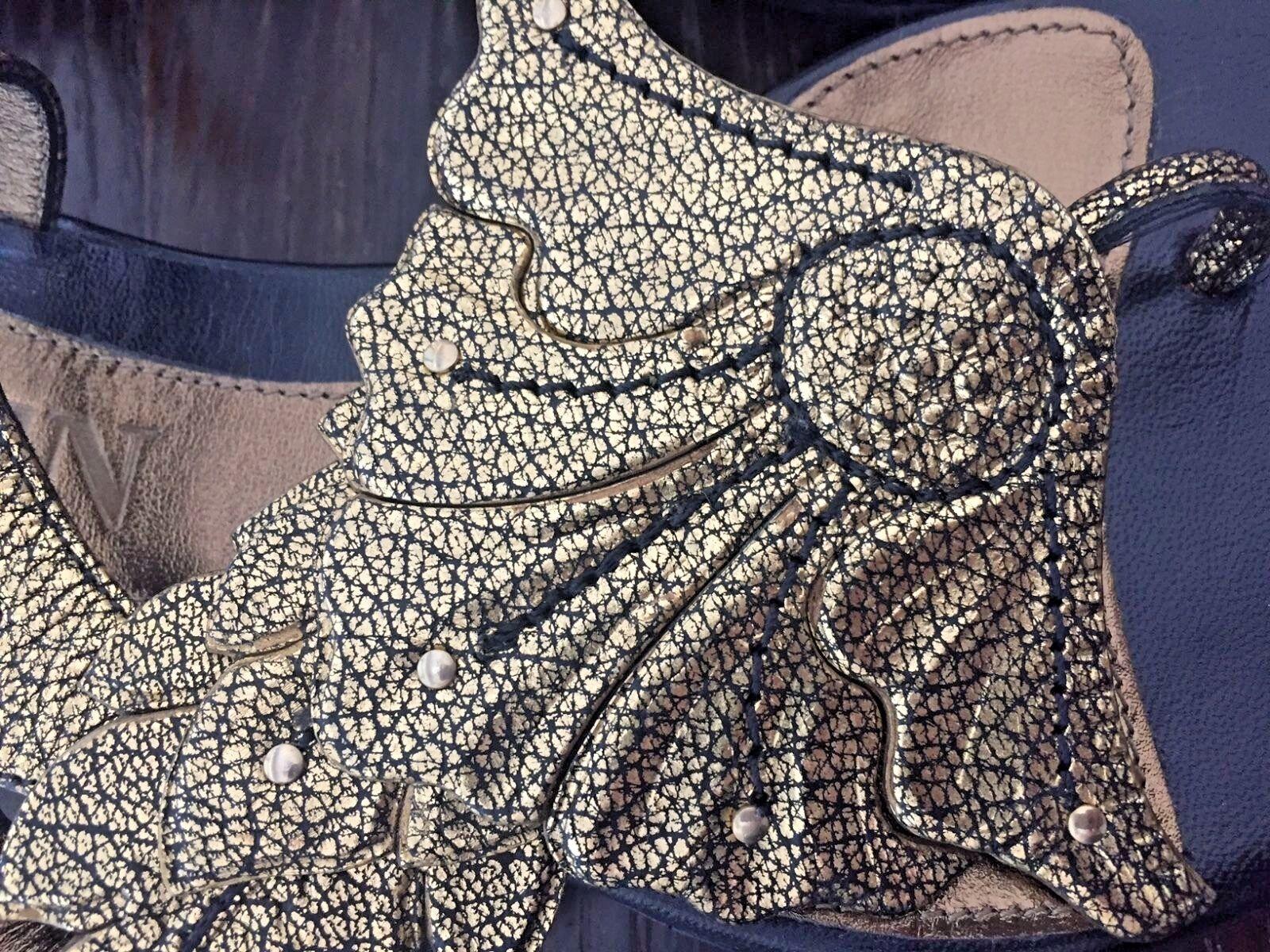 Alexander McQueen AMAZING sandals metallic  leaf motif SOLD SOLD SOLD OUT NEW 1d36ba