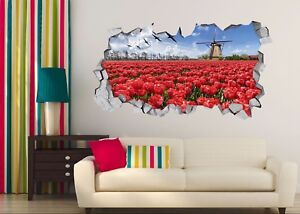 3D-Red-Flower-734-Wall-Murals-Stickers-Decal-breakthrough-AJ-WALLPAPER-UK-Carly
