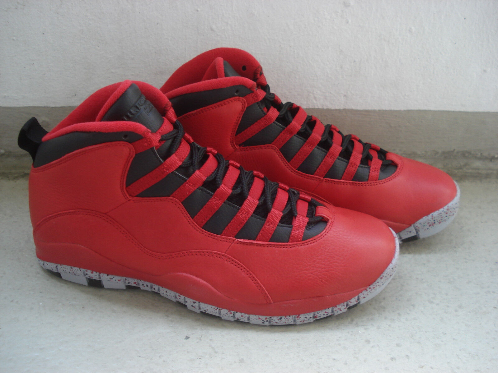 NIKE Air Jordan 10 x 45.5  bulls over over over Broadway  Gym rosso nero-WOLF grigio 51d91a