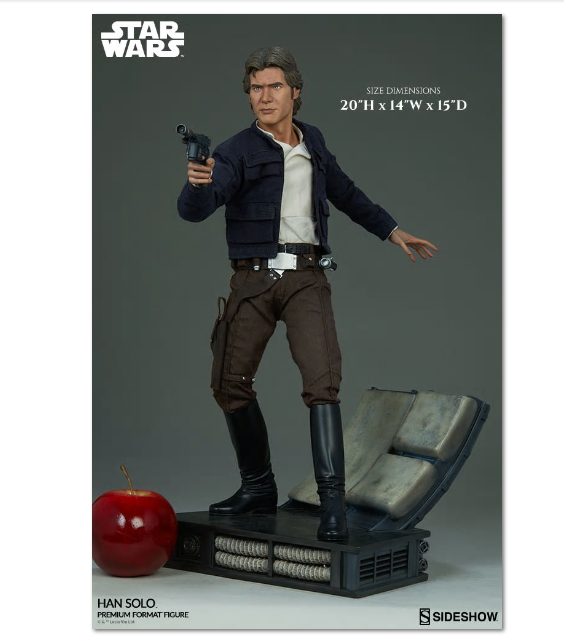 Star Wars Han Solo Premium Format Figure Figure Figure Sideshow Collectibles 300500 f08238