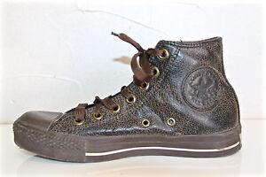 CONVERSE TUTTO STAR scarpe di pelle invecchiato marrone uomo P 39 REGNO UNITO