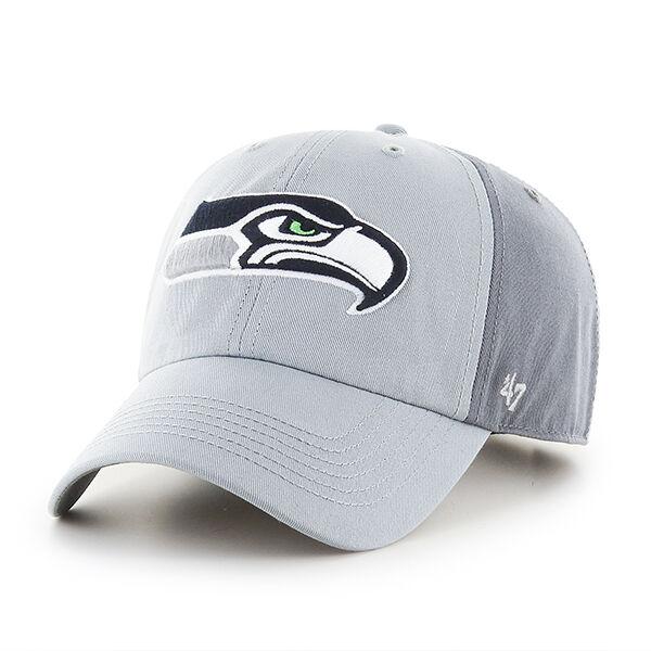 buy popular 404cd 8e9af Seattle Seahawks 47 BRAND Northside Clean up Hat Adjustable Cap 2 Tone Gray    eBay