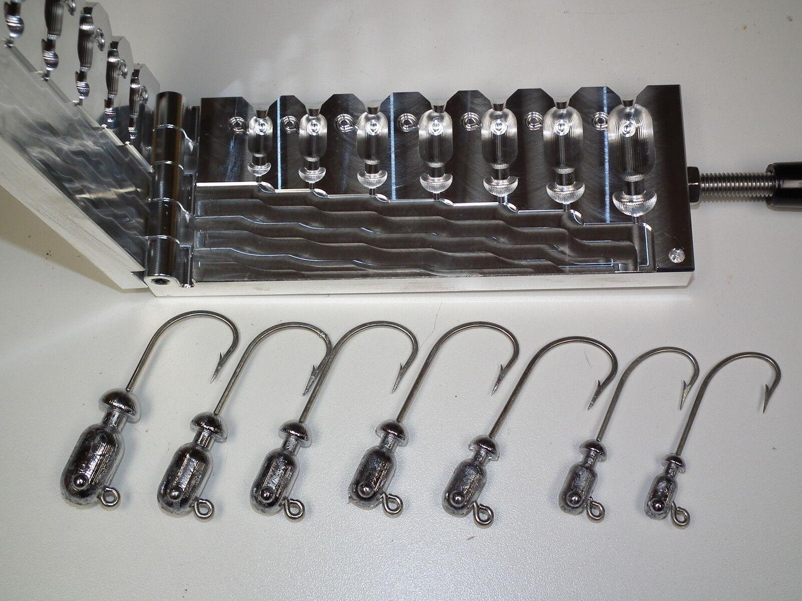 Saltwaterkugel Jig -3 Form 1  2 -3oz CNC Aluminium Flair Snook
