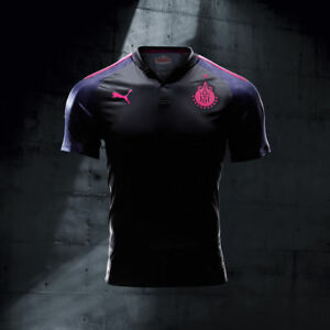 4612c7205a8 Image is loading Puma-Original-Project-Pink-Chivas-Jersey -Professional-Player-