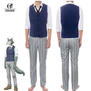 BEASTARS-Legoshi-Cosplay-Costume-School-Uniform-Men-Vest-Pants-Suits-Halloween
