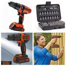 Black & Decker 18v cordless drill driver Li-ion kit with 100 Piece Drill Set