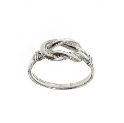 Selfless Solides Silber Knoten Ring Handmade 925 Beschauzeichen Jewelry & Watches