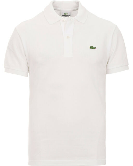 Lacoste Men's S Slim Fit White 100 Cotton Polo Shirt Size 8 / 3xl