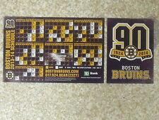 2013-14 Boston Bruins (NHL) 90th season team issued car logo/magnet schedule