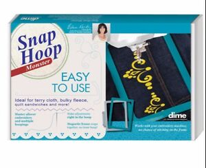 Details about Dime Snap Embroidery Hoop Monster 4 X4