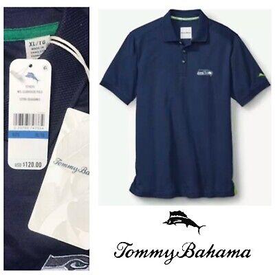 New Tommy Bahama NFL Team Apparel Men/'s Polo Shirt Orange L XL 2XL MSRP $110