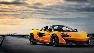 "McLaren 600LT Spider 2019 Orange Car Auto Art Silk Wall Poster Print 24x36"""