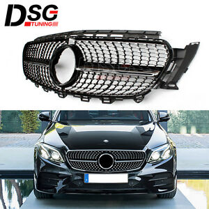diamond grille front grill for mercedes w213 e class e350. Black Bedroom Furniture Sets. Home Design Ideas