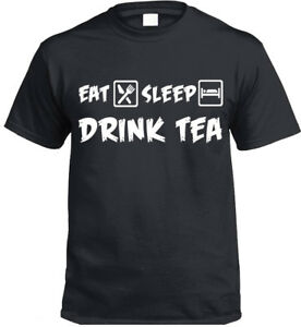 Eat-Sleep-Bevanda-Te-T-Shirt-Divertente-Regalo