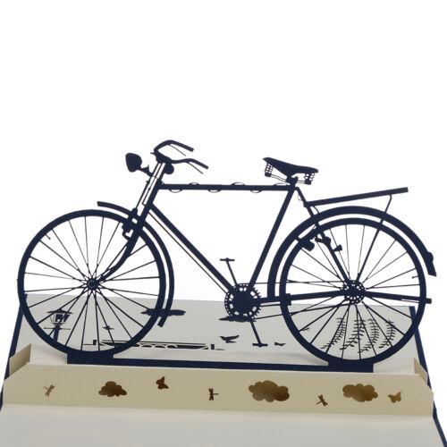 3D Up Card Handmade Sport Bicycle Bike Happy Birthday Christmas Greeting  v l ZS
