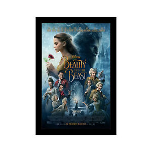 BEAUTY AND THE BEAST 11x17 Framed Movie Poster by Wallspace
