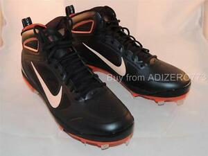 separation shoes 9d6f8 4f9ad Image is loading Nike-Carbon-Elite-Huarache-Baseball-Cleats-Orange-Black-