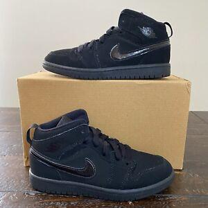 Air Jordan 1 Mid Size 2Y 'Triple Black' Air Force 1 Nike Dunk Sb High Low Retro