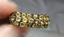 Citrine Mesh Ring 18K Blackened Gold Size 8 Retro Mid-Century Modernist 2 of 2
