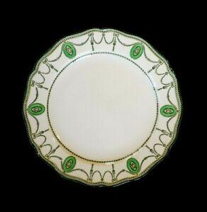 Beautiful-Royal-Doulton-Countess-Green-Rim-Bread-Plate-Circa-1920