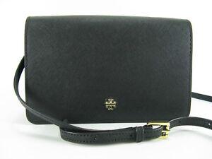 6ef167b39770 NWT Tory Burch Emerson Combo Leather CROSSBODY Handbag in Black  245 ...