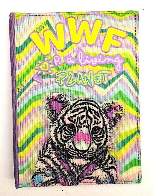 DIARIO datato WWF scuola GIRL in tessuto TIGRE for a living planet A.S. 2020/202