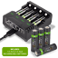 Rechargeable-High-Capacity-AAA-AA-Batteries-and-Charging-Dock-Venom-Power miniatuur 18