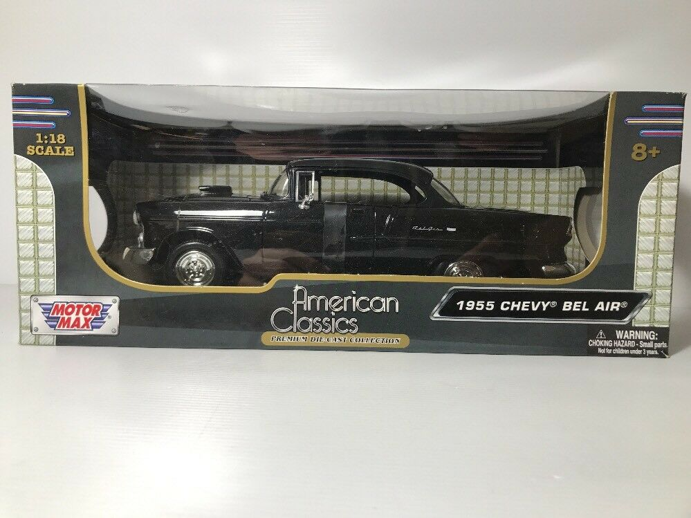1955 Chevy Bel Air Collectors Club 1 18 Scale Model Motor Max ny